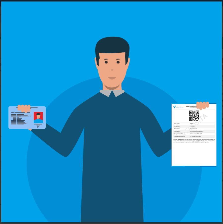 Foto Diri Membawa ID Asli (KTP) Dan File Verifikasi